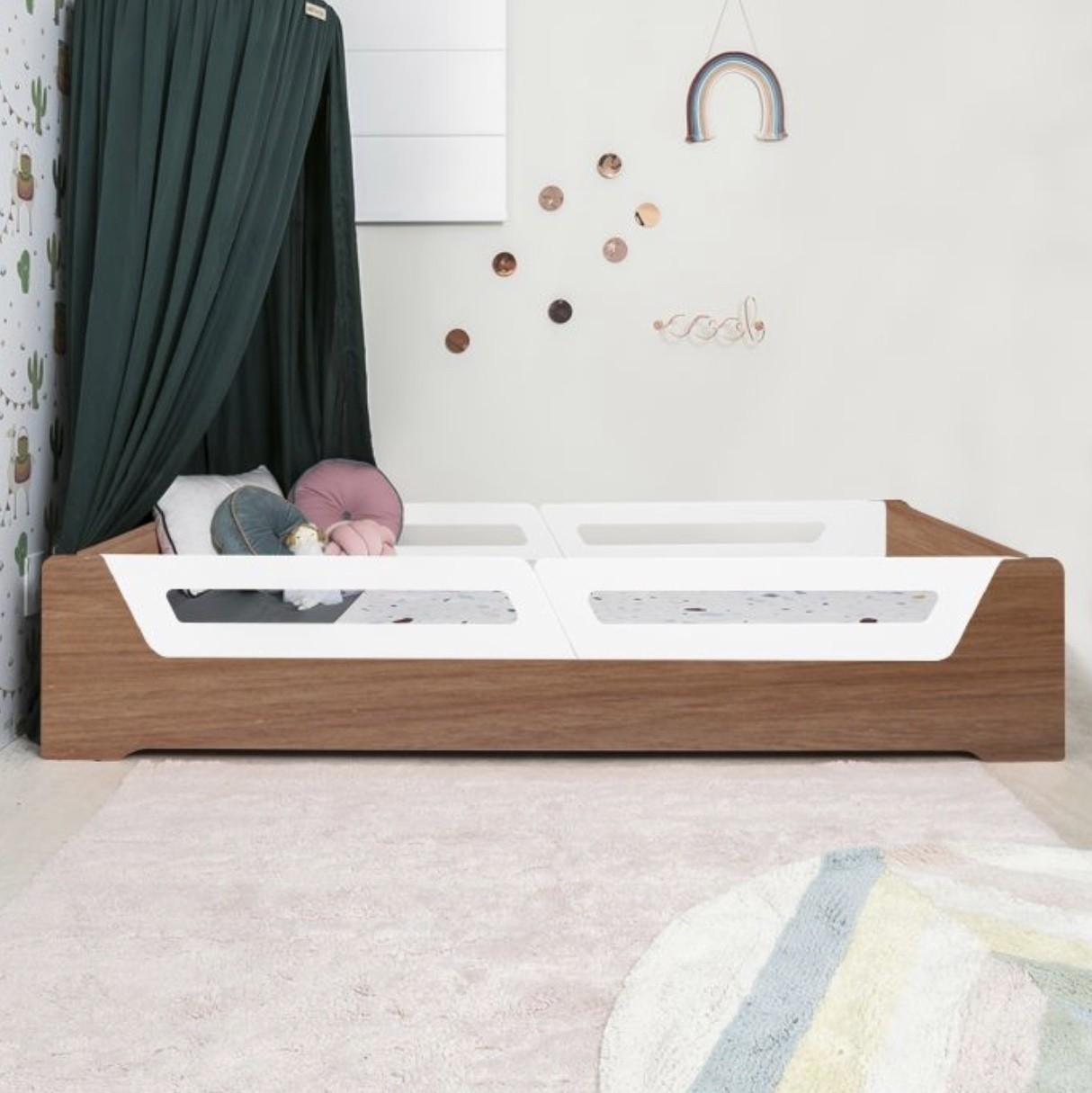 Cama Anis Plus estrutura madeira (solteiro e mini cama)