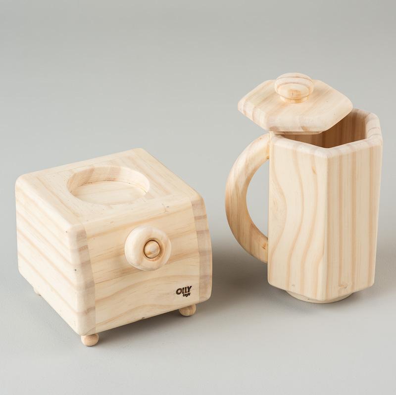 Liquidificador madeira