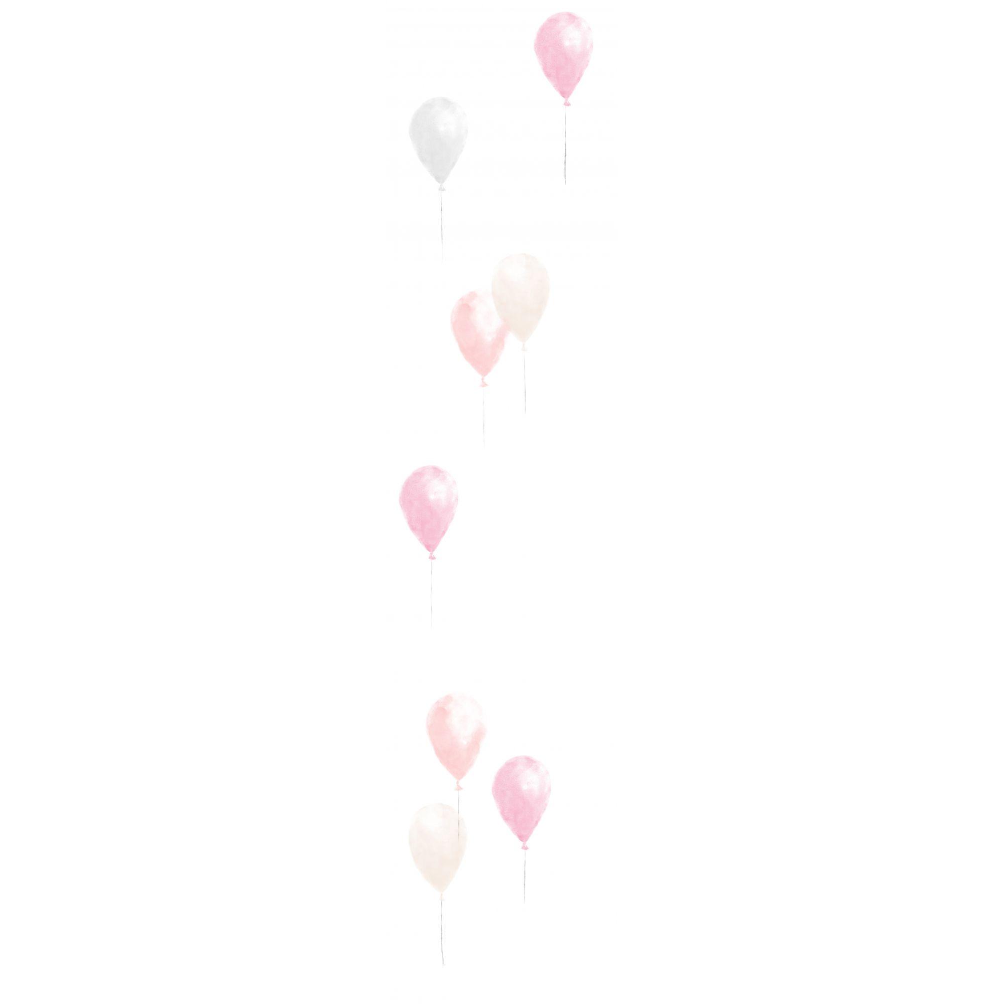 Papel de Parede Adesivo Bexigas Isis - Tons de Rosa