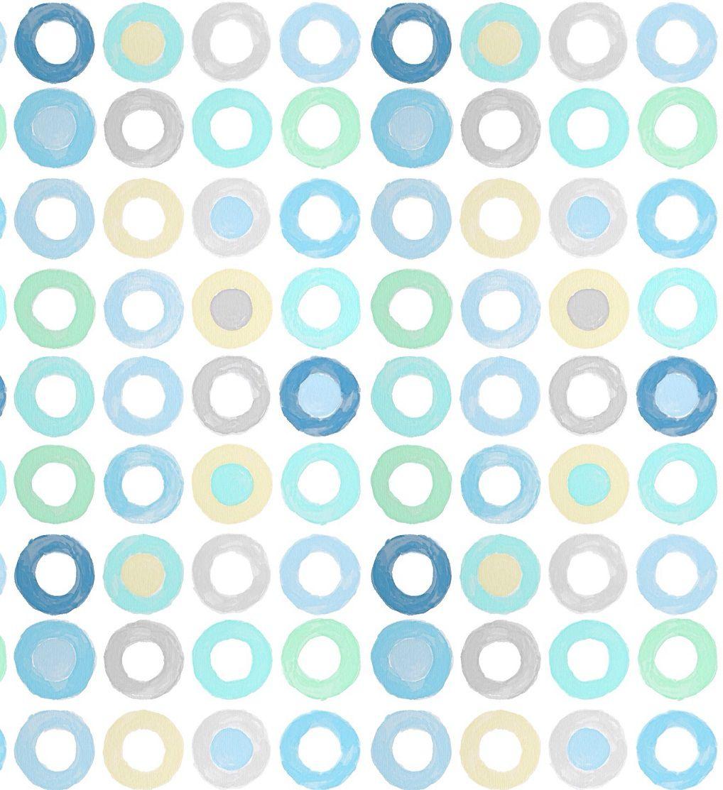 Papel de Parede Adesivo Teca - Tons de Azul