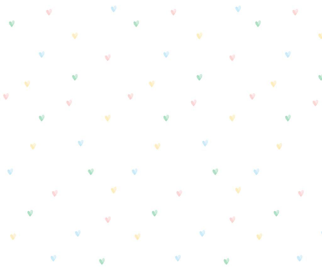 Papel de Parede Adesivo corações Clau - Candy Colors