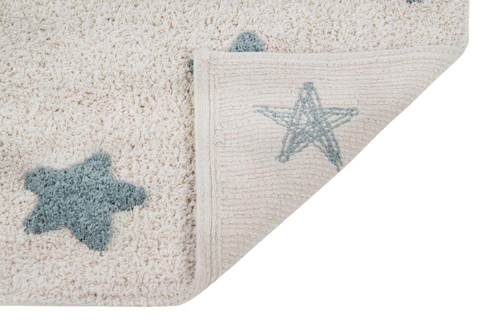 Tapete Estrelas Drica Natural Azul