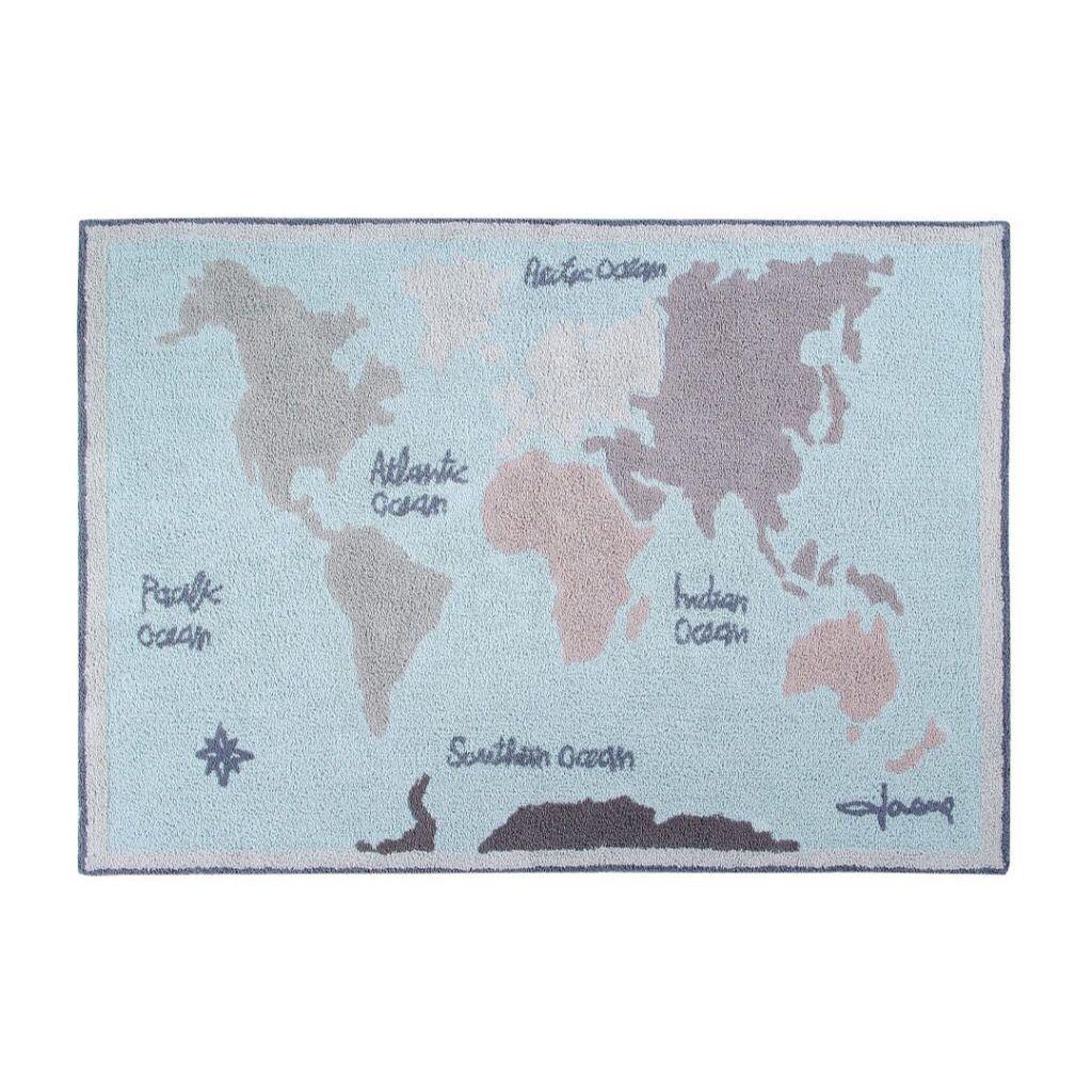 Tapete Mapa Mundi Leleco  - Ideias de Mamãe