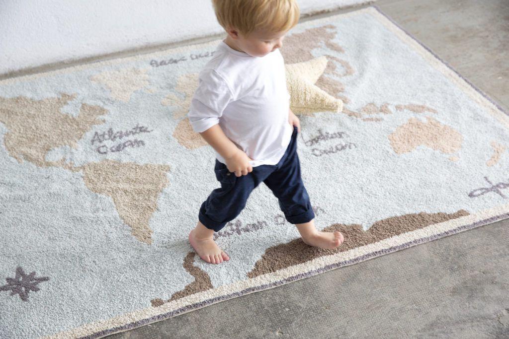 Tapete Mapa Mundi Leleco