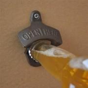 Abridor de Garrafa para Parede - Open Beer Here