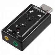 Adaptador Usb Virtual Placa De Som Externa Áudio 7.1 Canais