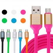 Cabo de Dados Carregamento Micro USB de Silicone Colorido