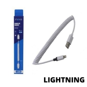 Cabo de Dados e Carregamento Inova Espiral 3.1A Lightning Iphone CBO-5968