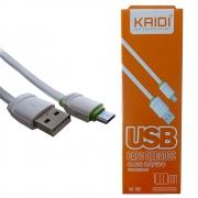 Cabo De Dados E Carregamento Kaidi Silicone Usb V8