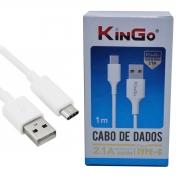 Cabo De Dados E Carregamento Kingo Usb Type C