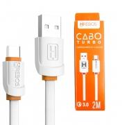 Cabo De Dados Turbo 3.0 USB Type-C 2M Hrebos