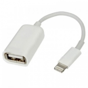 Cabo OTG Usb Lightning iPhone e iPad Pendrive Teclado