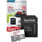 Cartão de Memória Micro Sd Sandisk Ultra Classe 10 Original 16Gb