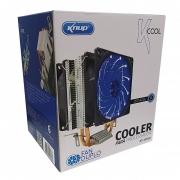 Cooler Duplo Fan 90mm Gamer Led Azul KP-VR304