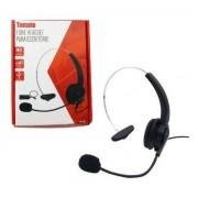 Fone Headset para Telefone Fixo Telemarketing Tomate MT-1011