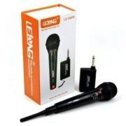 Microfone sem Fio Profissional 2 em 1 Lelong LE-996W Karaokê Palestras