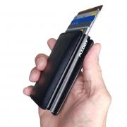 Mini Carteira Automática Porta Cartão De Créditos E Dinheiro