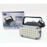 Mini Strobo Flash Led Branco Jogo de Luz Boate Luatek Lk-368