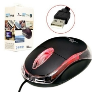 Mouse Óptico Com Fio Usb 1200 dpi Led Knup KP-M611