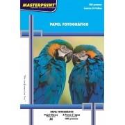 Papel Fotográfico 180 grs Glossy Brilho Masterprint  A4 20 Fls