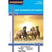 Papel Fotográfico Adesivo 130 grs Glossy Brilho Masterprint A4 20 Folhas