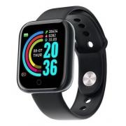 Relógio Smartwatch Preto Digital D20s Android iOS Usb Carregamento