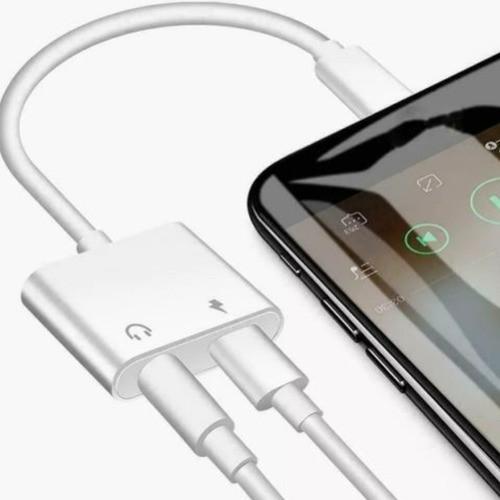 Adaptador Para iPhone Dual Lightning Carrega Fone Duplo P2 LE-0155