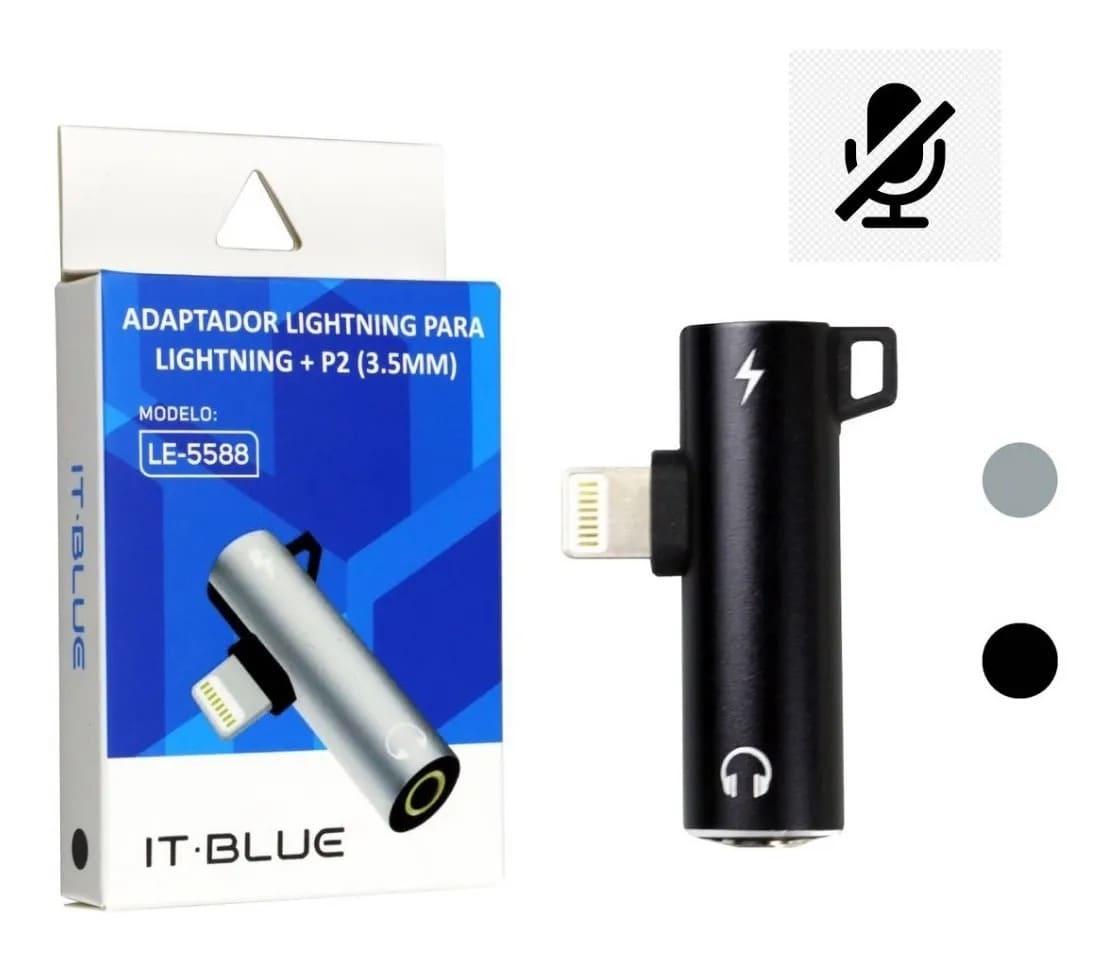 Adaptador Para iPhone Dual Lightning Carrega Fone Duplo P2 LE-5588
