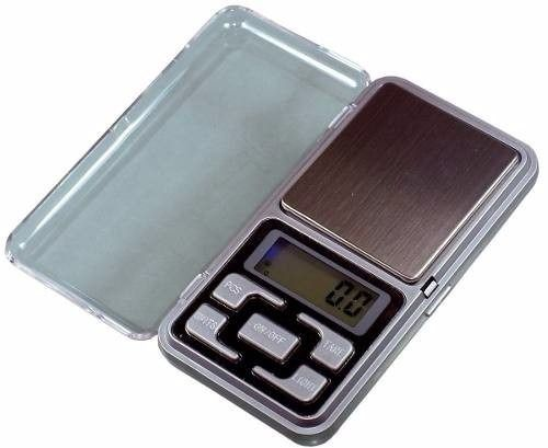 Mini Balança Digital de Bolso Alta Precisão 0,1 até 500 grs