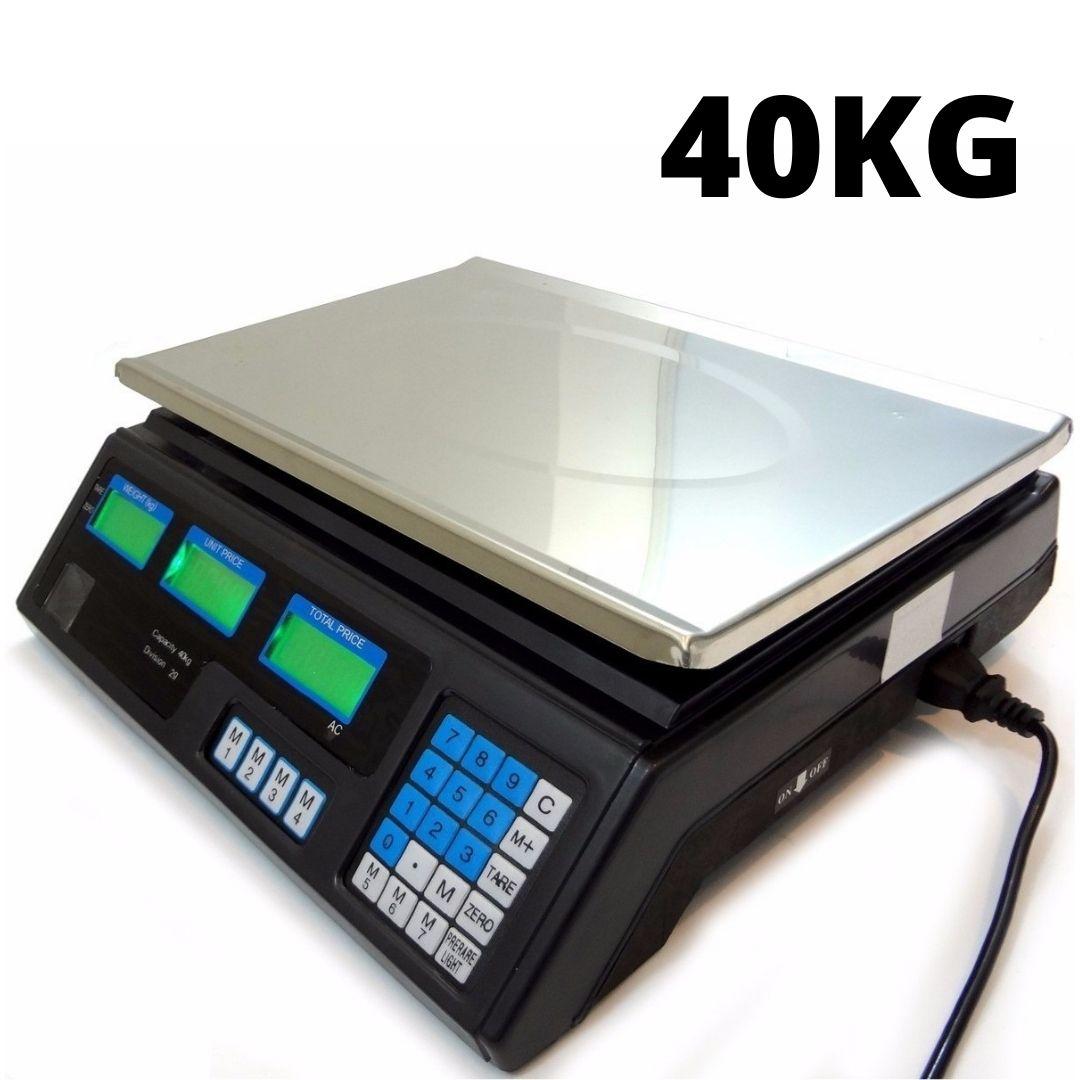 Balança Digital 40Kg Bivolt Bateria - Uso Residencial