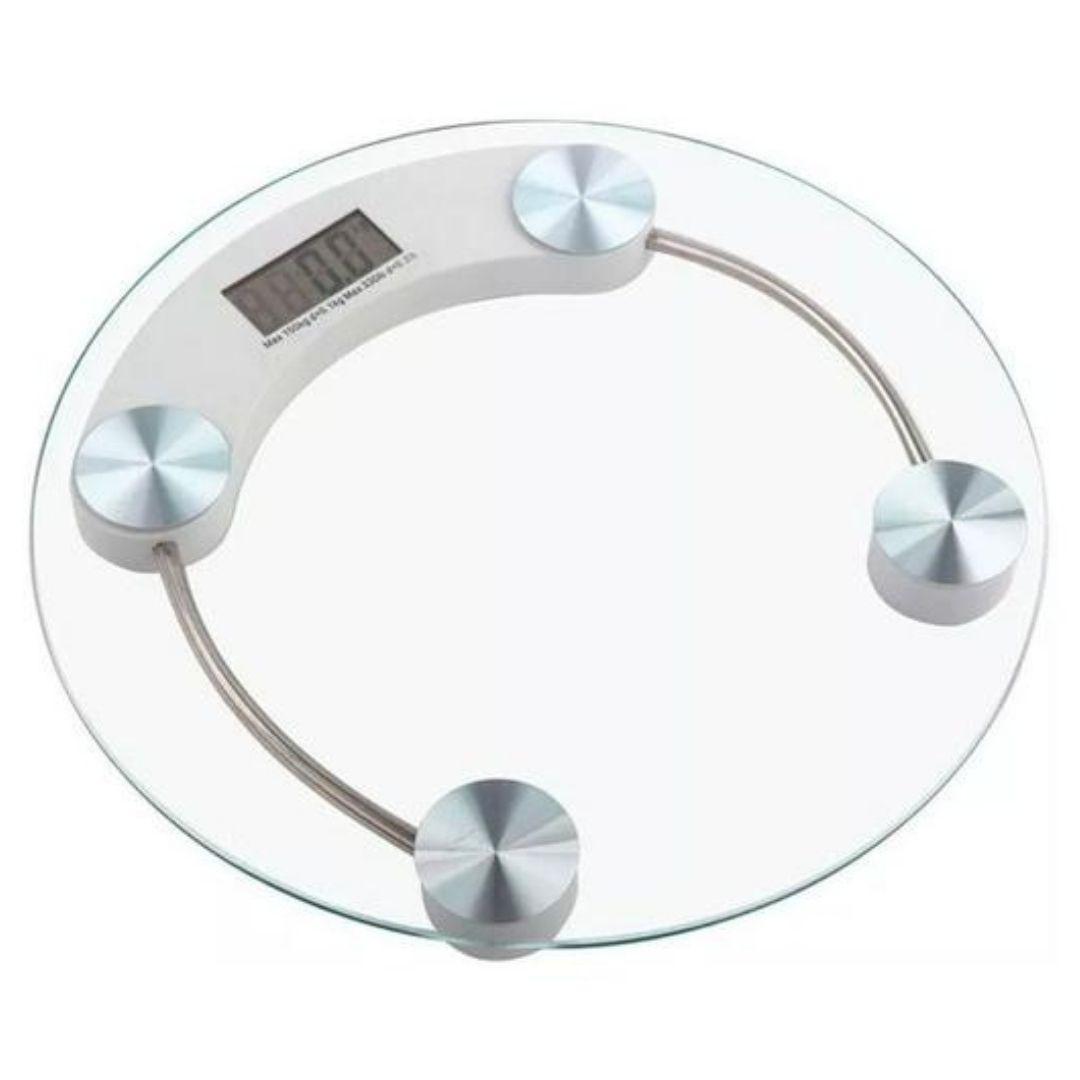 Balança Digital Banheiro 180Kg Vidro Temperado