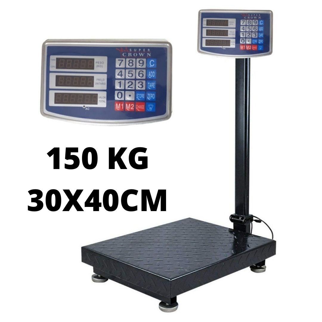 Balança Plataforma 150Kg 30x40cm Bateria Bivolt