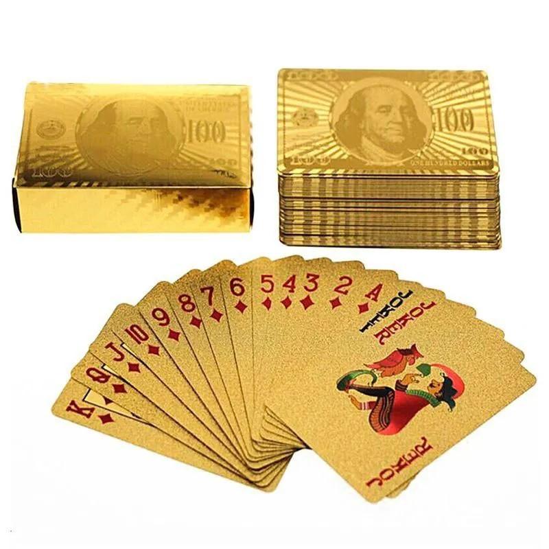 Baralho Cartas Dourado Ouro Prova Impermeável Flexível