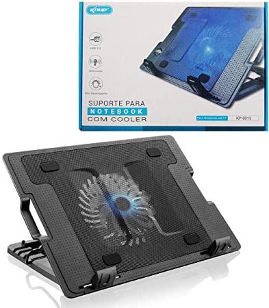 """Base cooler Suporte Para Notebook até 17"""" Knup Inclinável Kp-9014"""