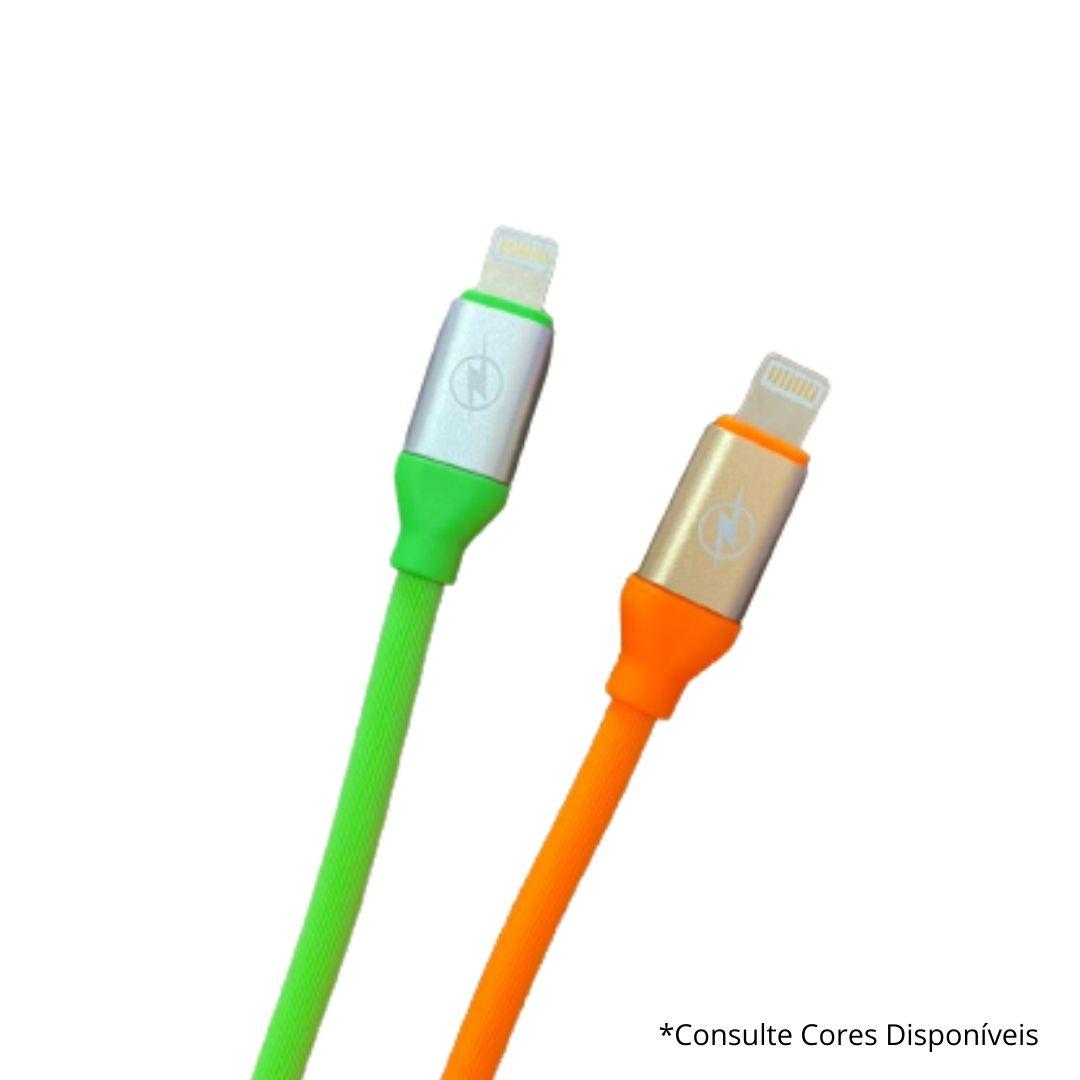 Cabo de Dados Carregamento Iphone Lightning Silicone Colorido