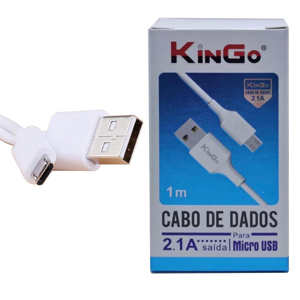 Cabo De Dados E Carregamento Kingo Micro Usb V8