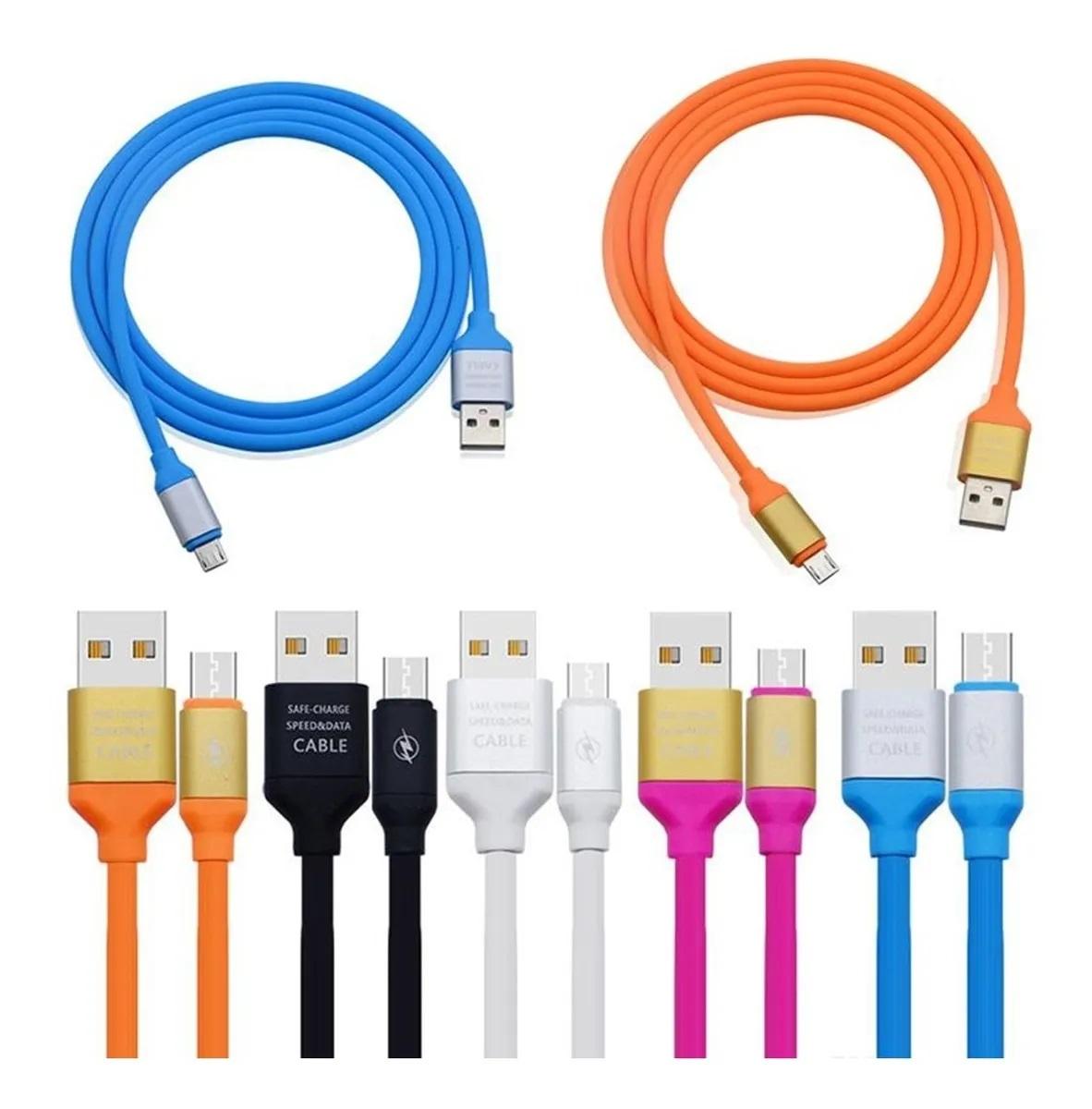 Cabo de Dados Carregamento USB Tipo C Type C Silicone Colorido