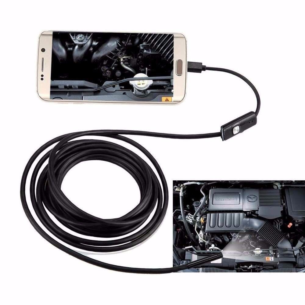 Câmera Sonda Inspeção Endoscópica Celular Prova D'água V8 Usb