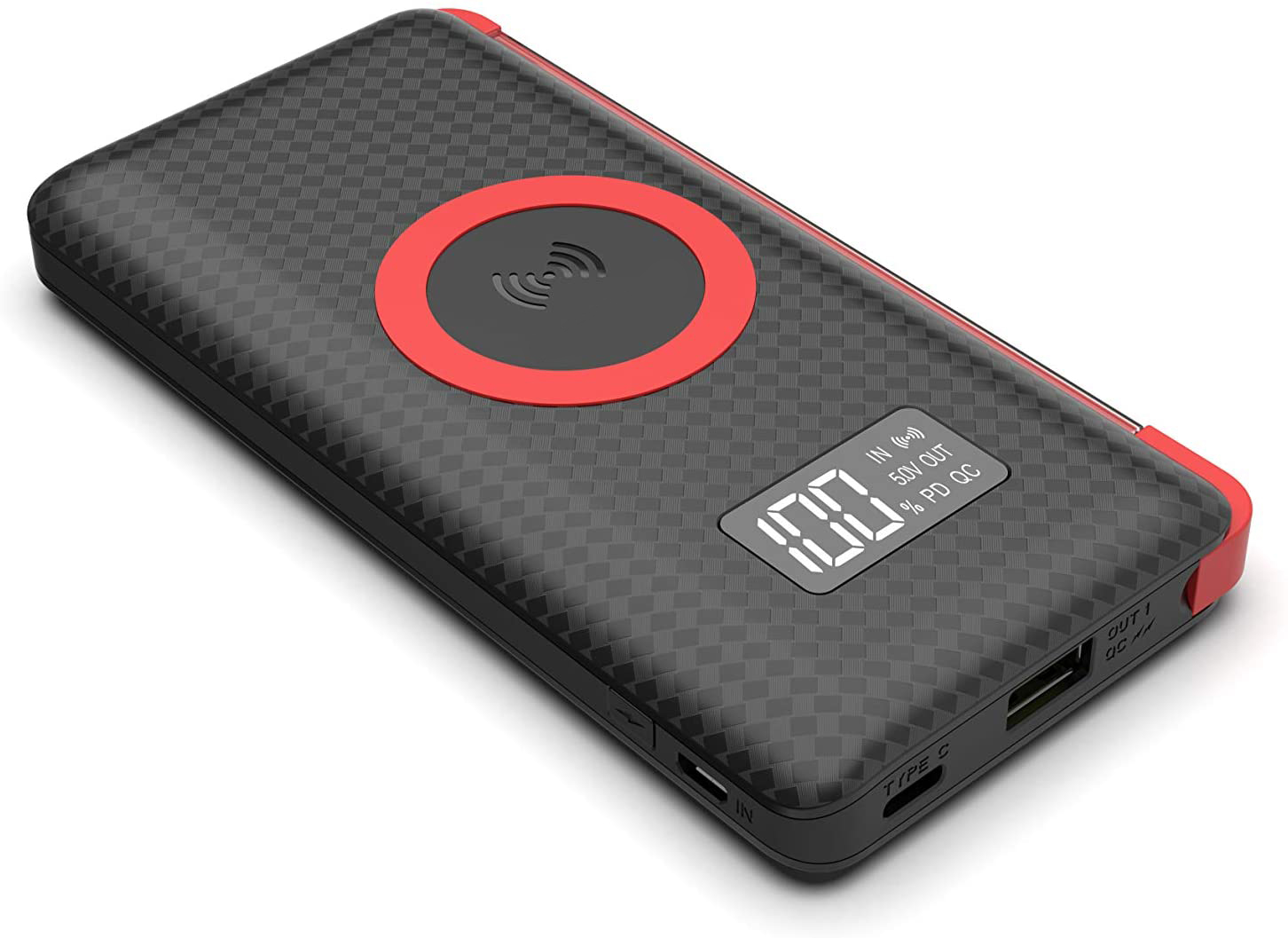 Carregador Bateria Portátil Power Bank 10.000 mAh Wireless Indução