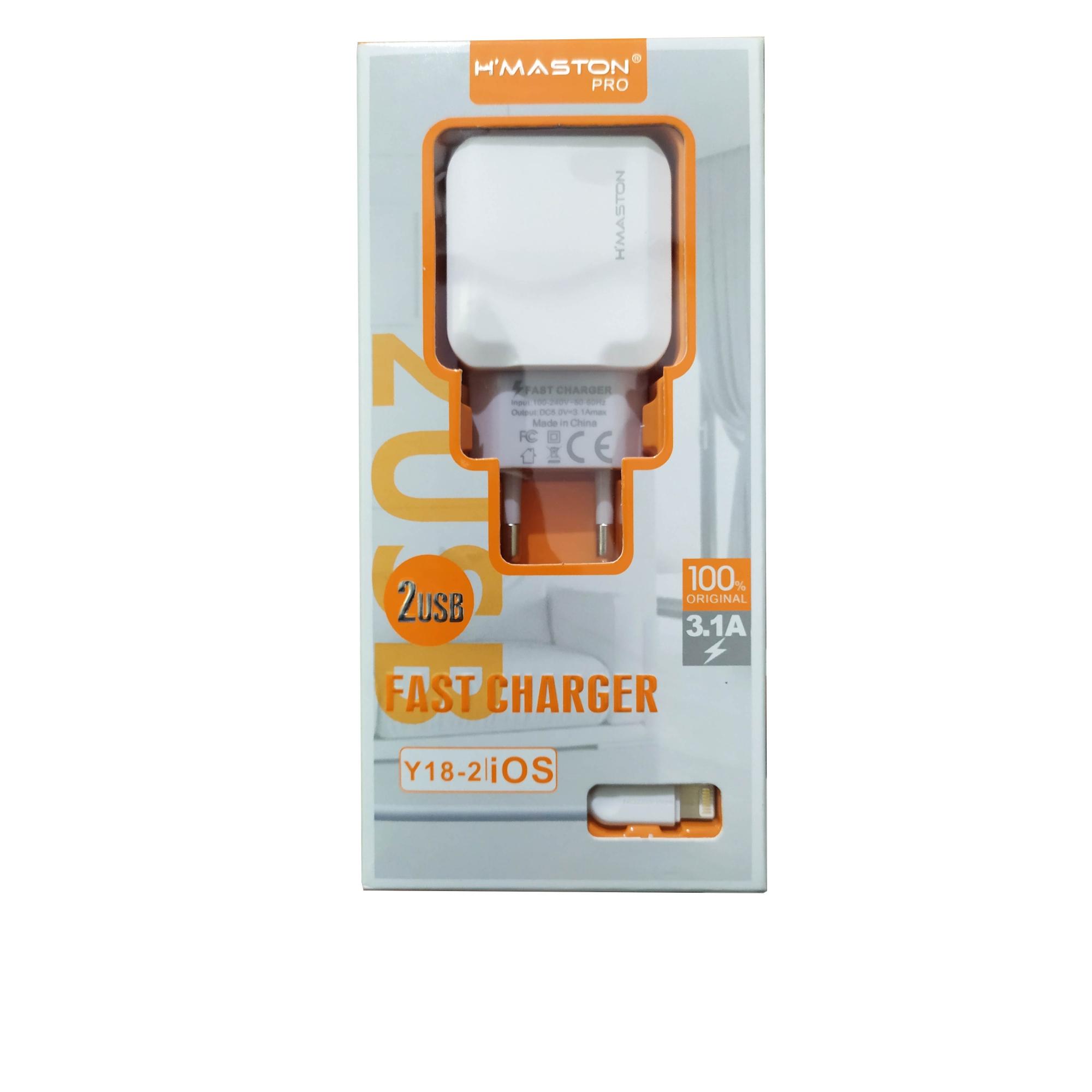 Carregador e Cabo Fast Charger Lightning 3.1A Y18-2 iOS