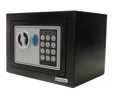 Cofre Eletrônico Digital - Senha e Chaves 23x17x17cm