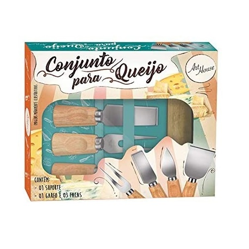 Conjunto Jogo De Utensílios Para Queijo Inox 5 Peças Gourmet