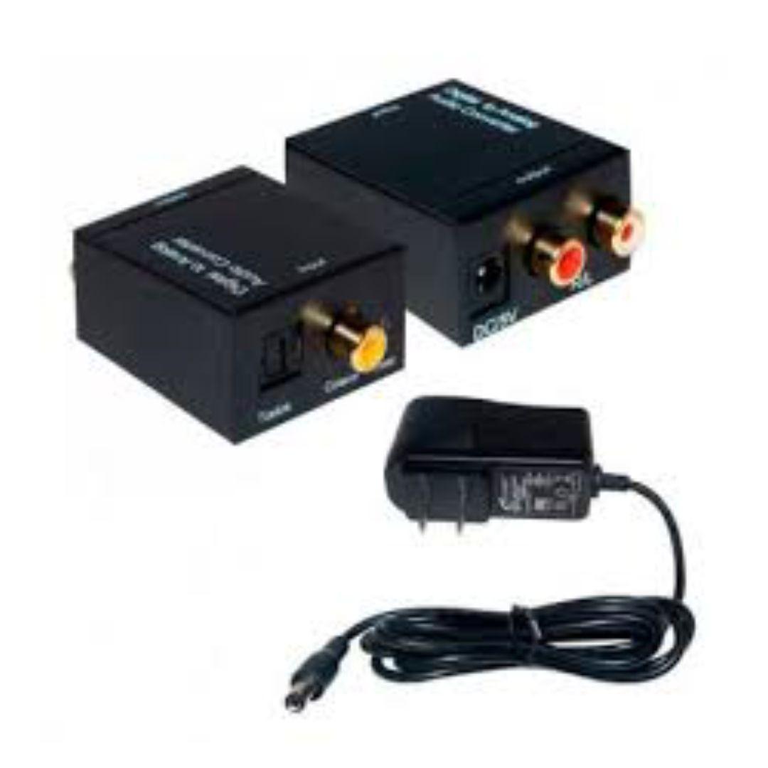 Conversor Áudio Óptico Digital Fibra Coaxial Rca Analógico