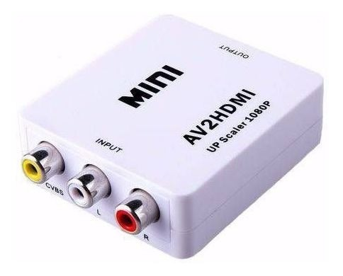 Conversor Adaptador de AV para HDMI Composto Rca 2av