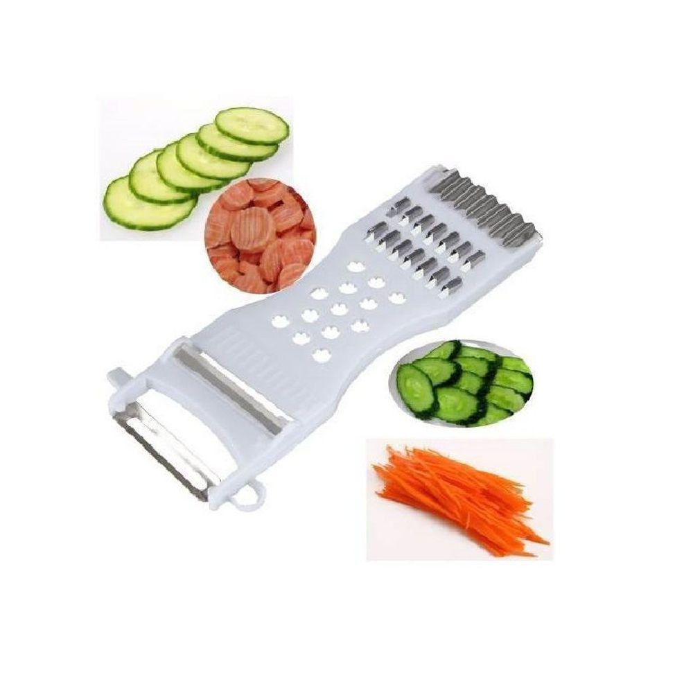 Descascador Ralador Fatiador de Legumes Frutas 5 em 1
