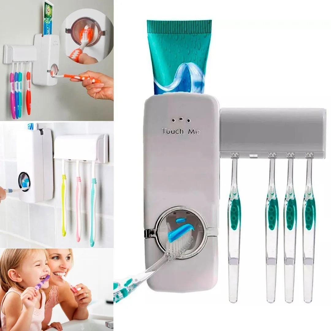 Dispenser Pasta Dental A vácuo + Suporte para Escova de Dente