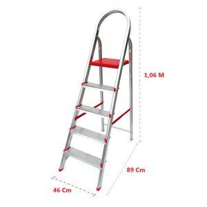 Escada Alumínio Botafogo 5 Degraus