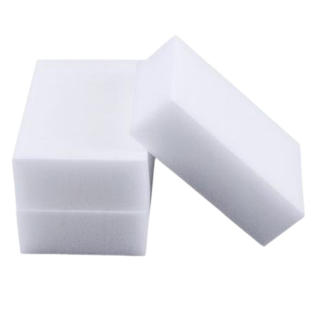 Esponja Mágica Multiuso Melamina 10x6x2cm- Kit c/ 3 pçs