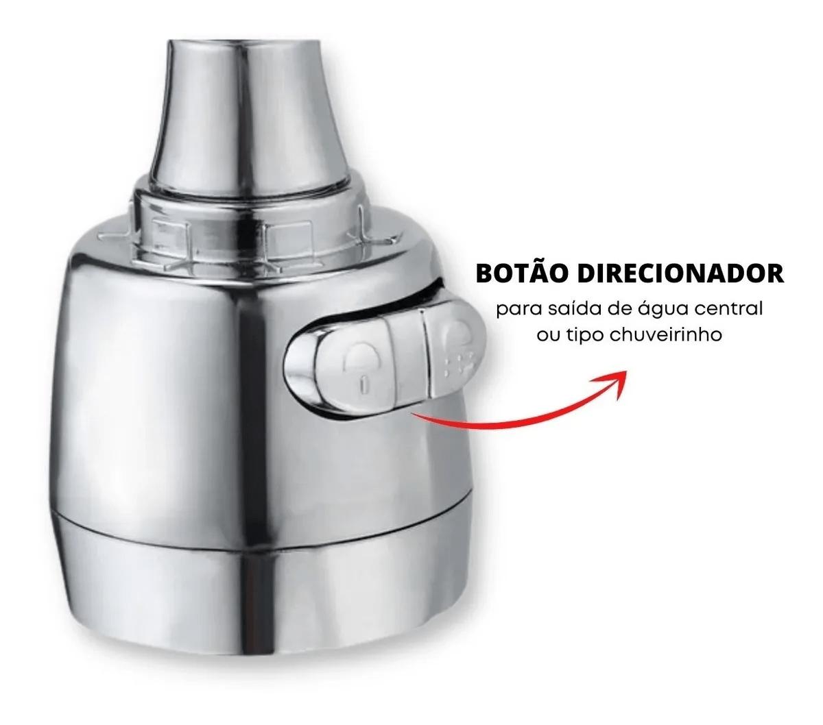 Extensor Flexível Ajustável Para Torneira De Pia 360°