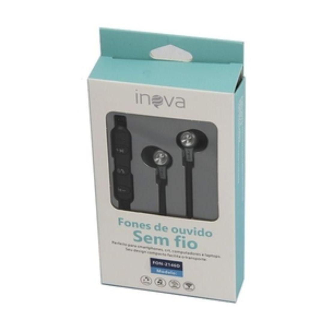 Fone De Ouvido Sem Fio Bluetooth Ultra Bass Inova 2146d